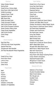 Buffet King Prices by Menu At The Real China 1 5 Staines Rd Restaurant Prices