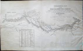 Road Map Of Oregon by Topographical Map Of The Road From Missouri To Oregon Commencing