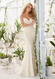 diamante beaded straps on soft net wedding dress style 2807