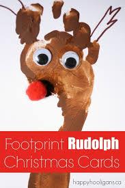 footprint rudolph cards happy hooligans
