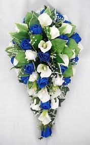 wedding flowers royal blue wedding flowers bouquets brides bouquet cala lilies ivory
