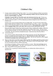 children u0027s day worksheet free esl printable worksheets made by