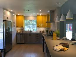 Yellow Cabinets Kitchen House Hunters Renovation Welcome Home Laura U0026 Steve