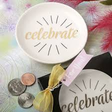 chagne wedding favors celebrate white ceramic jewelry change dish price favors