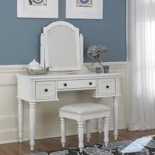 Vanity Mirror And Bench Set Bermuda Vanity U0026 Bench White Finish Homestyles