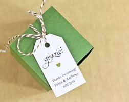bridal shower favor tags grazie gift tag thank you in italian bridal shower favor tag