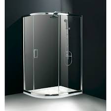 flair central opening single door offset quadrant shower enclosure