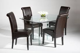 Brown Leather Chairs For Dining Chair Fascinating Small Dining Table Chairs Modern Hd Images Glass