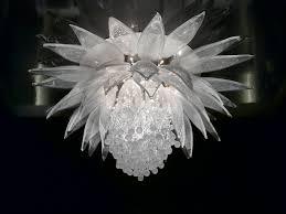 Lotus Chandelier Contemporary Chandelier Blown Glass Incandescent Lotus