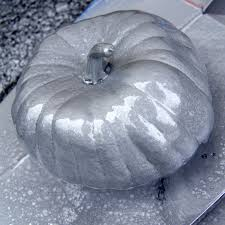 metallic spray painted pumpkins tutorial call me victorian