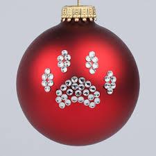 paw print ornament and cat paw print tree