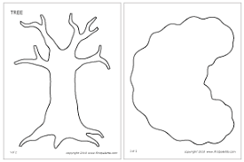 tree printable templates coloring pages firstpalette
