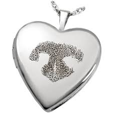 memorial jewelry sterling silver heart photo locket nose print pet memorial jewelry