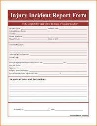 8 incident report template wordreference letters words