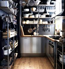 kitchen style loft shelving wooden floor and black wall design