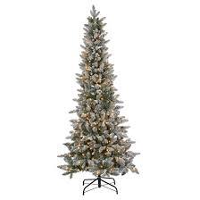 6 5ft pre lit artificial tree lightly flocked fir