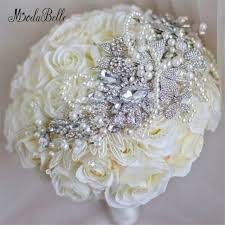 artificial wedding bouquets bouquet matrimonio bridal bouquet white ivory