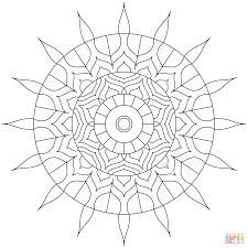 simple mandalas coloring pages free coloring pages
