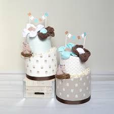 owl shower decor gender neutral baby gift owl diaper cake