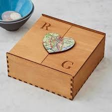 keepsake box personalised map heart treasured location keepsake box by bombus