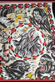 sailor jerry wolf flash search tattoos sailor jerry wolf done by