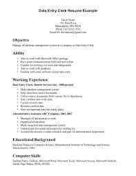 data entry resume data entry resume exles paso evolist co