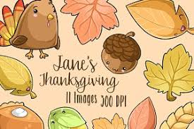 thanksgiving kawaii cuties graphics graphics creative market