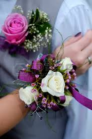 prom flowers with corsage flowers boy girl celebration prom marriage