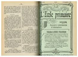 Le Cercle Des Dés Mina Voyance No 07 L Ecole Primaire 15 Septembre 1915 By Résonances Mensuel De