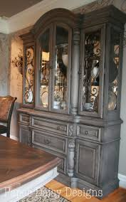 How To Paint Kitchen Cabinets Gray by Best 25 China Cabinet Redo Ideas On Pinterest Painted China