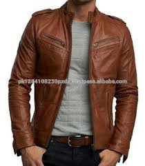 jacket price quality wholesale low price fashion brown leather jacket
