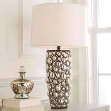 caged mercury glass table lamp shades of light