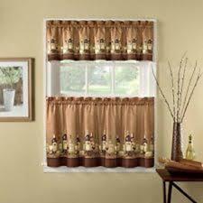 country kitchen bay window curtains wine kitchen curtains