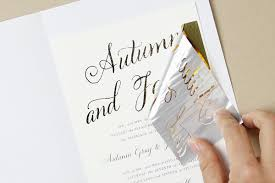 gold foil wedding invitations i often get asked how to print in metallic gold foil at home in