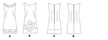 pattern a line shift dress mccall s 5799 shift dress