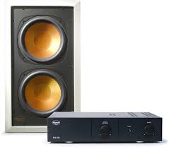 home theater subwoofer amplifier klipsch rw 5802 passive in wall subwoofer with matching amplifier
