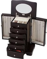 jewelry box necklace organizer images Seya modern wooden jewelry box organizer with mirror jpg
