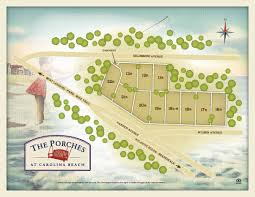 Uncw Map The Porches Carolina Beach Cottages