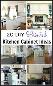 diy ideas for kitchen cabinets 20 diy painted kichen cabinet ideas
