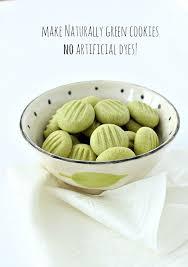 naturally green matcha tea shortbread cookies natural food dye