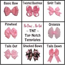 hair bow templates tnt top notch templates and hair bow nobownogo