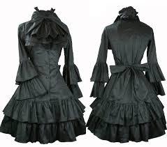 j323 ladies victorian gothic kimolo sleeves long black