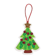 thumbprint christmas tree ornament craft kit orientaltrading com