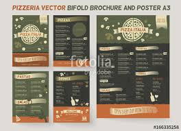pizzeria menu brochure template vector brochure design modern