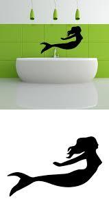 visit buy removable silhouette swimming mermaid bathroom