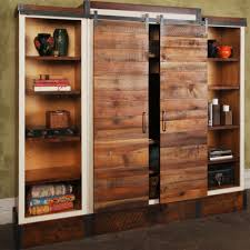 Reclaimed Wood Barn Doors by Sliding Barn Door Wall Unit Urban Evolutions