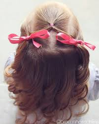 simple hairstyles with one elastic half up toddler hair style girls hair pinterest toddler hair