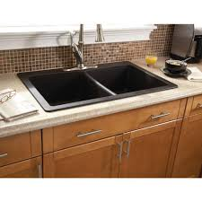 home depot black sink black kitchen sink faucet in showy offset bowl trugranite sink