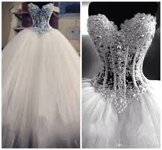princess wedding dresses with bling luxurious bling vestido de noiva corset bodice sheer gown
