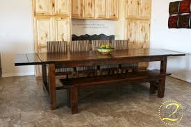 Dining Room Tables With Benches Stunning Ana White Farmhouse Table Bench 76 With Additional Decor